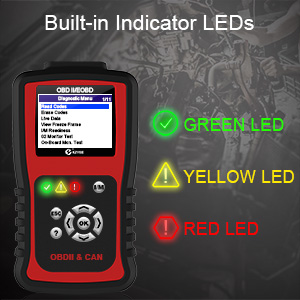 Build-in Red-Yellow-Green LEDs and Speaker ,Indicate Emission Monitor Status