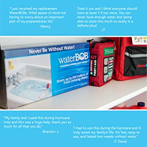 With testimonials from all over, waterBOB is a trusted name in the space of emergency preparedness.
