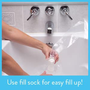The waterBOB is easy to fill and to use straight from your bathtub.