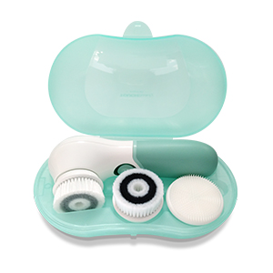 facial cleansing brush with case