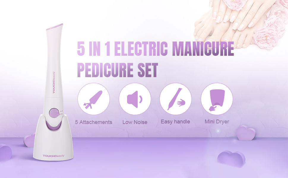 touchbeauty Nail File Drill with 5 attachment