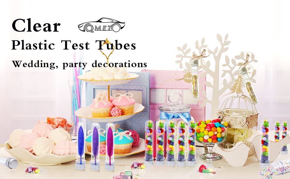 Clear Plastic Test Tubes