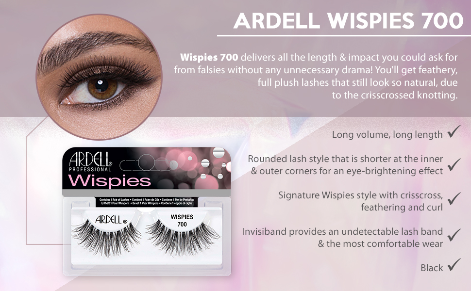 b92614dc842 Amazon.com: Ardell Lashes Pro Wispies 700, 4 Pack: Beauty