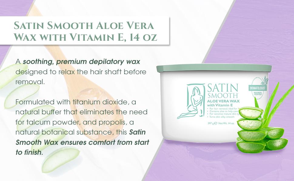 Satin Smooth Aloe Vera Pot Wax, 14 Ounce