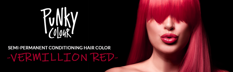 Punky Colour Semi Permanent Hair Color, punky red hair color, punky vermillion red