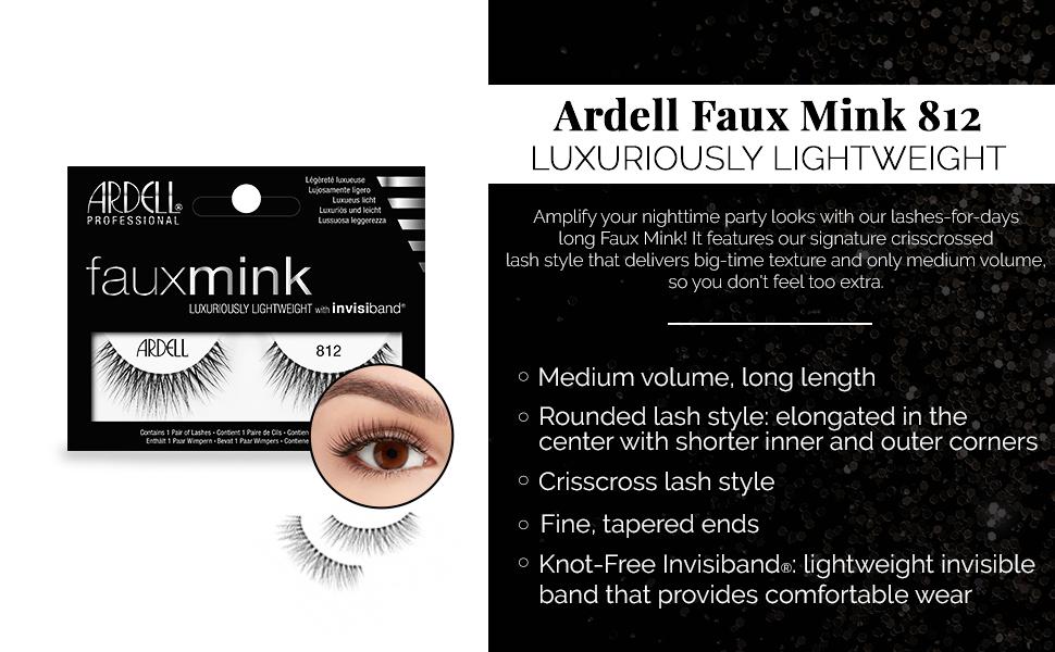 a21dc418054 Amazon.com: Ardell Faux Mink 812 Black, 4 Pack: Beauty
