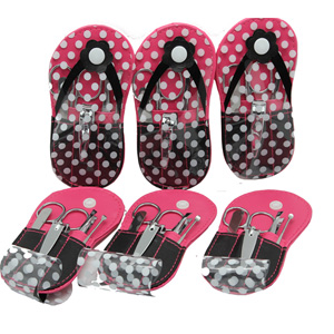 9c5ae776763ca Soft PU Polka Dot Flip Flop design package. Each kit ...