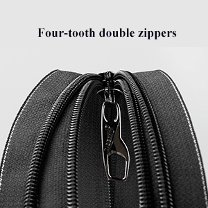 DOUBLE ZIPPERS with PADLOCK