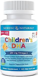 childrensdha, dha, omega3, fishoil, nordicnaturals, children