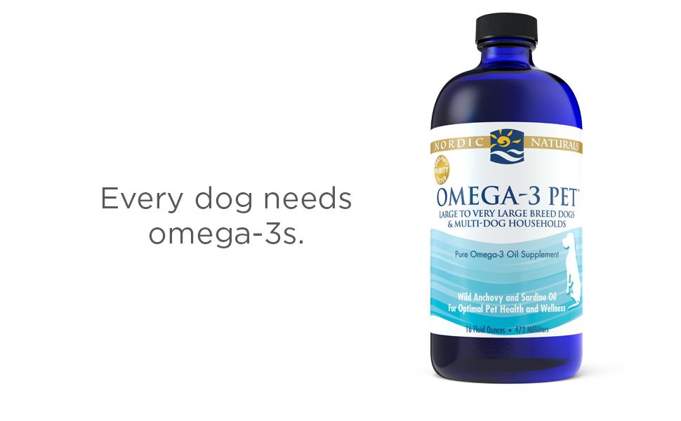 Omega-3 Pet Liquid 16 ounce. Every Dog needs Omega-3s.
