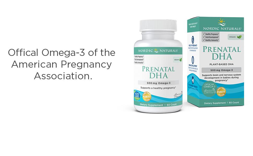 Vegan Prenatal DHA box and bottle shot