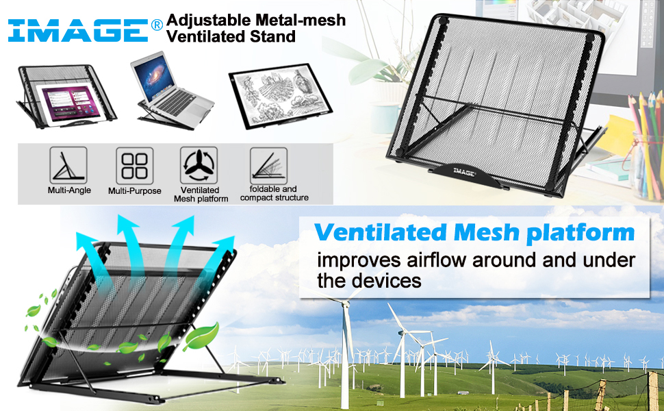 Ventilated Metal-mesh Adjustable Stand