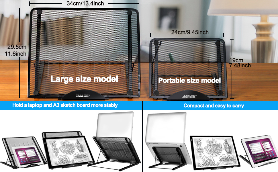 Light Box Pad Stand tracing pad drawing tablet laptop tablet light box stand spiral notebook stand