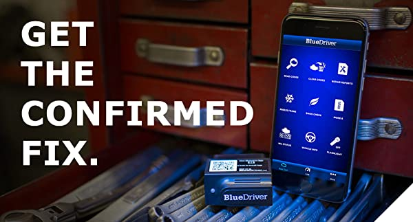 BlueDriver Bluetooth Professional OBDII Scan Tool gives you the confirmed Fix by using the Identifix database with 30 million specific fixes.