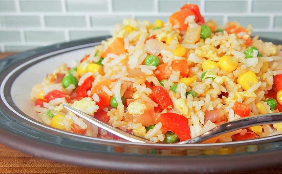 Fried Jasmine Rice & Vegetables