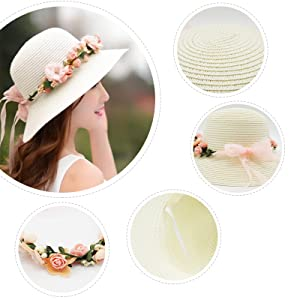 732e05cb5b876 Amazon.com  Lovful Womens Spring Summer Sun Protection Floppy Hats ...