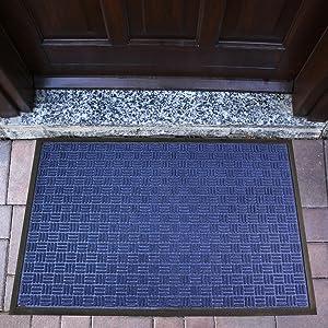 Heavy Duty Indoor Outdoor Blue Doormat