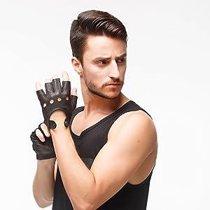 fingerless gloves men