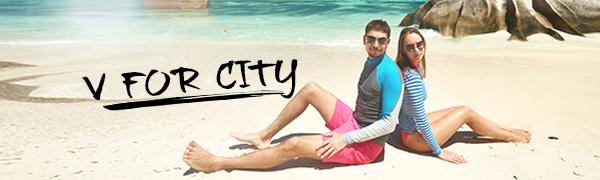 562dbf8de20fb ... Women s Plus Size Solid UPF 50+ Swim Shirt Active Rashguard Work Tops.  Description. V FOR CITY. V FOR CITY is an professional international online  ...