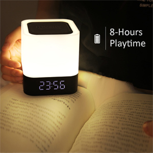 bluetooth speaker color changing light alarm clock bluetooth