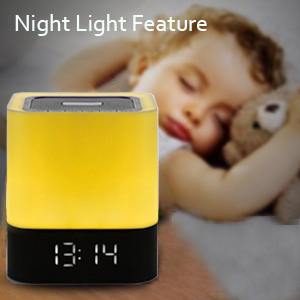 bluetooth alarm clock clock lamp alarm clock music alarm speaker alarm clock and speaker