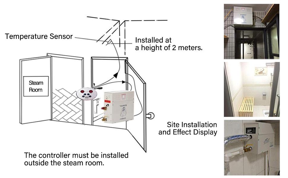 CGOLDENWALL Luxury Steam Generator Shower Home Steam Shower ... on standby generator wiring diagram, kohler steam generator parts, kohler steam generator installation, generator transfer switch wiring diagram, kohler steam generator manual,