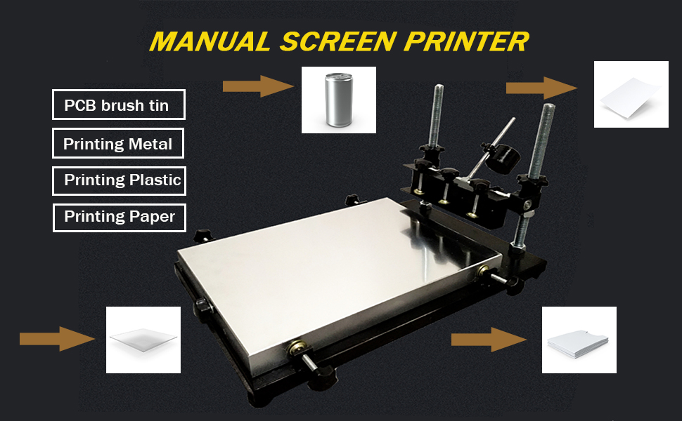 CGOLDENWALL Automatic SMT/SMD Screen PCB Stencil Printer SMT Manual Screen  Printer Printing Area :320 220mm