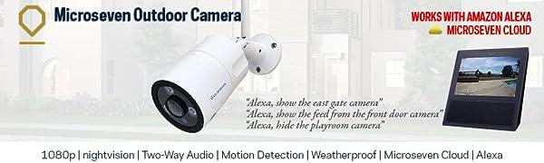 1080P wireless wifi two-way audio outdoor ip camera