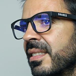 SHADEZ Blue Light Blocking Glasses for Digital Eye Strain Prevention