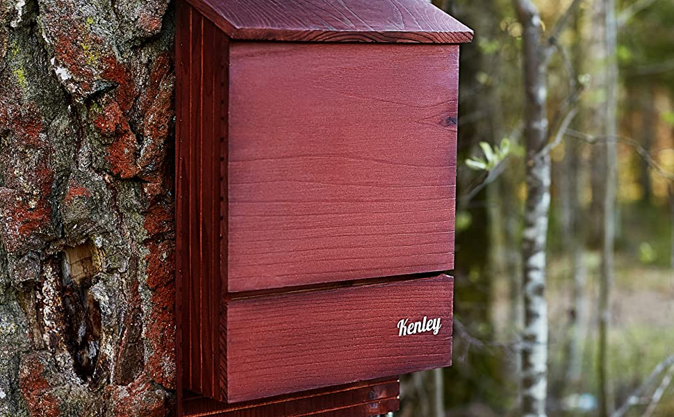 Wooden Bat Box Durable and Weather-Resistant Cedar Box Handmade Outdoor Shelter for Bats Easy to Install Smooth and Elegant Design Invictus king Bat House Double Chamber for Easy Landing