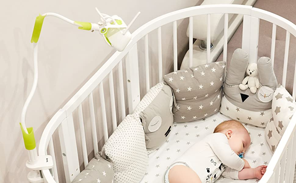Perfect Baby Monitor Universal Camera Clamp Holder for Cot Bed /& Baby Crib