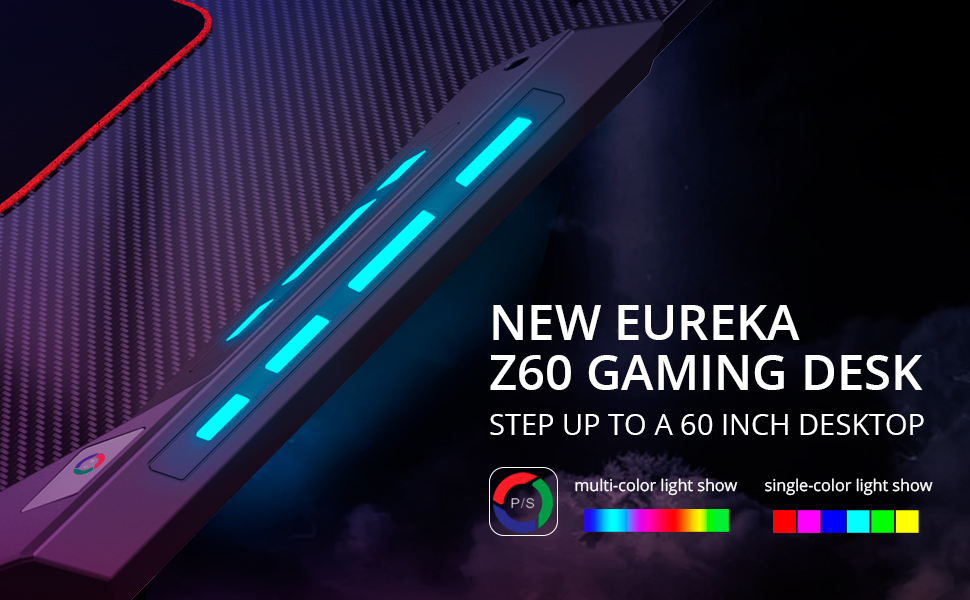 Amazon Com Eureka Ergonomic Z60 Gaming Desk 60 Z Shaped
