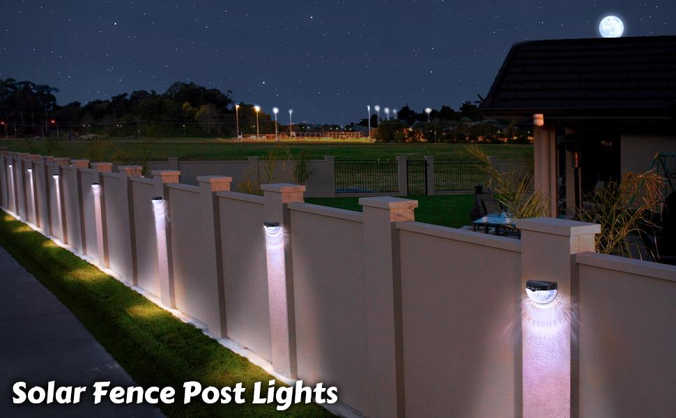 Othway Solar Fence Post Lights Wall Mount Decorative Deck