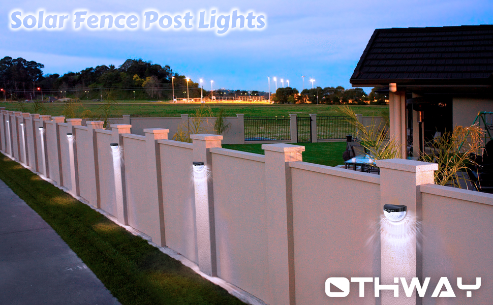 Othway solar fence post lights wall mount decorative deck lighting othway solar fence post lights perfect for locations such as fence post garden walkway deck stairway etc aloadofball Gallery