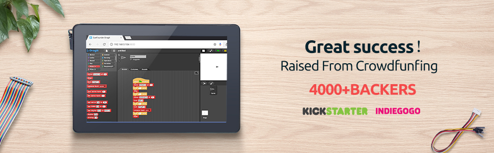 SunFounder RasPad - A Raspberry Pi Tablet Built-in Battery