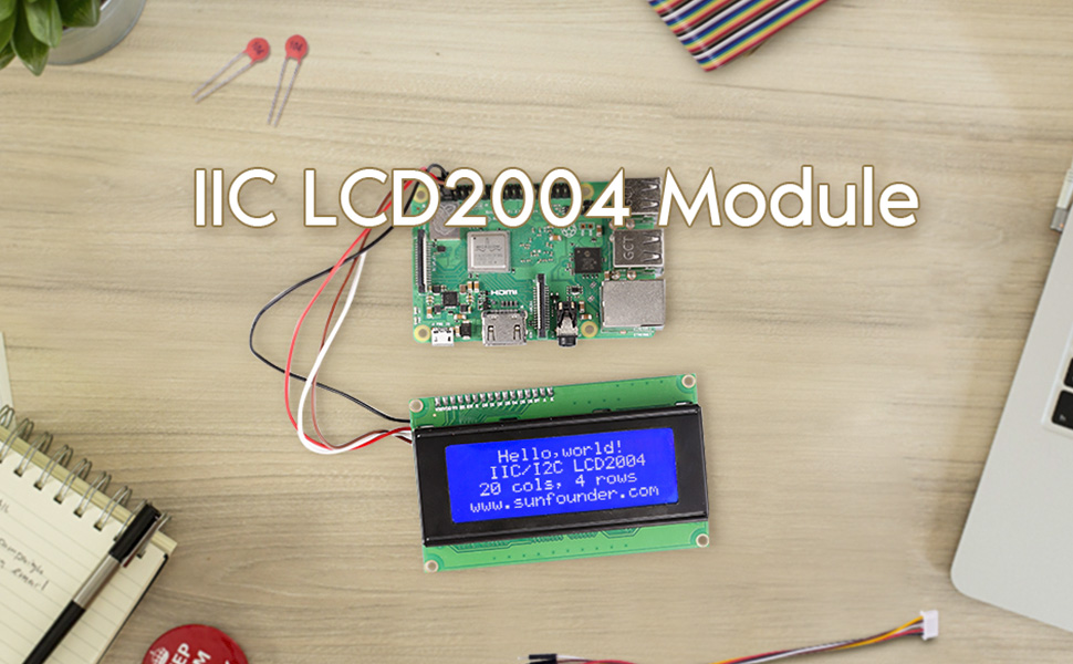 2004 LCD WITH i2c interface  MODULE