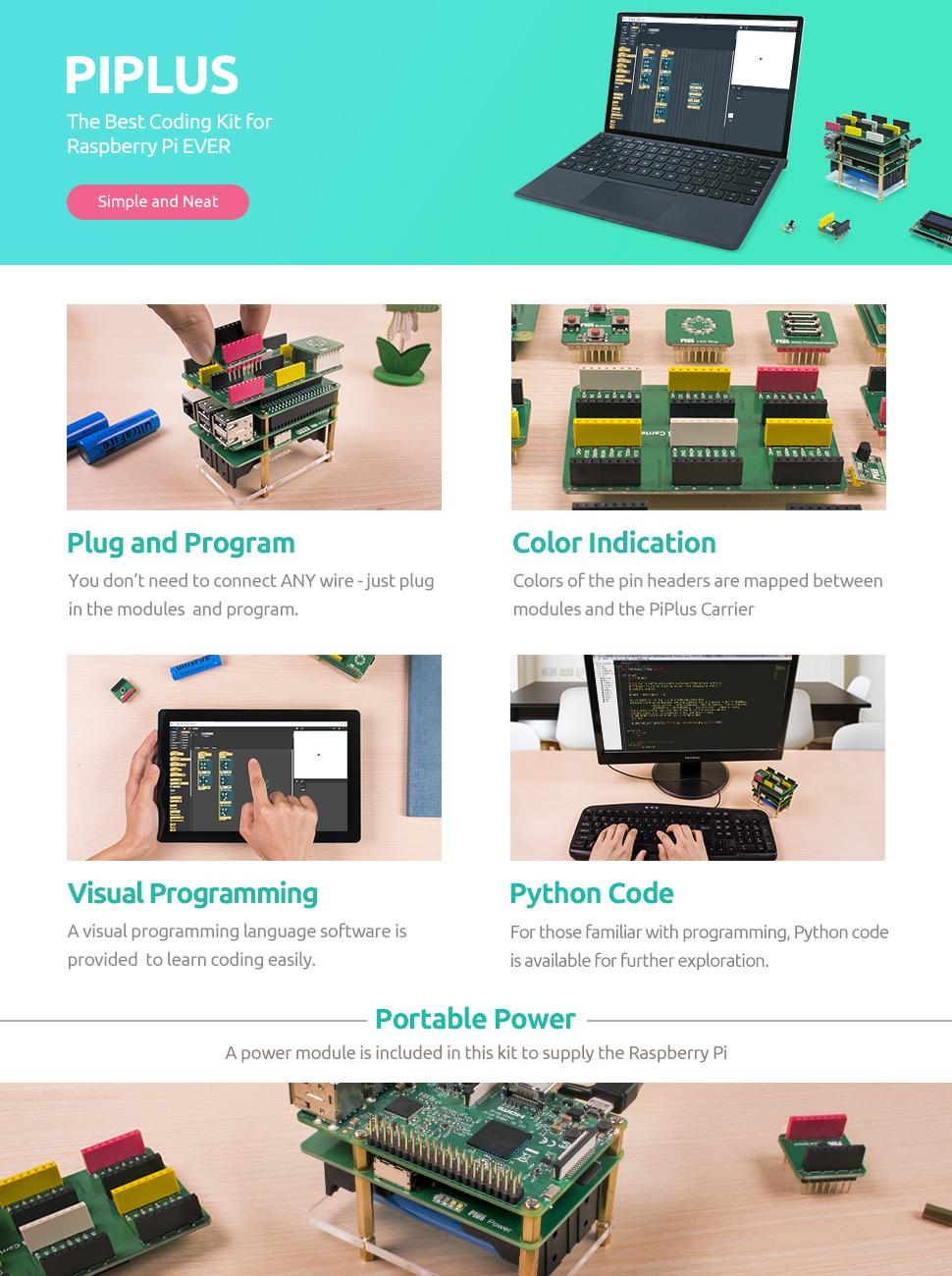 Raspberry Pi Sensor Kit Sunfounder Piplus 15 In 1 Stem Electronic Watchdog Electronix Product Description