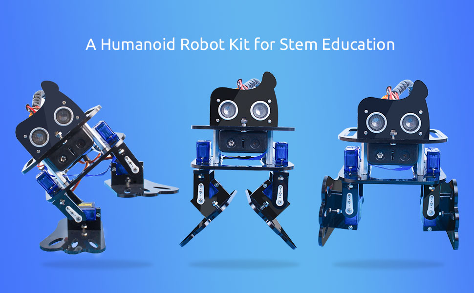 Amazon arduino nano diy 4 dof robot kit sloth learning kit package included 4 x tower pro servo 9g 1 x ultrasonic module 4 x m330 bi pass aluminum standoff 4 x m366 single pass aluminum standoff solutioingenieria Gallery