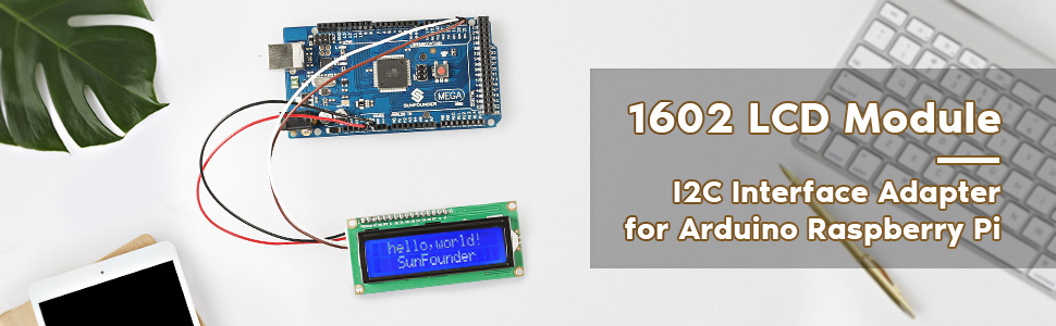 Black IIC//I2C//TWI Character 24x2 Serial LCD Module Display for Arduino w//Library