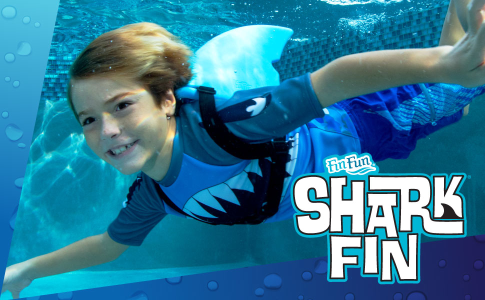 Fin Fun Shark Fin For Swimming And Costume Blue Toys Games