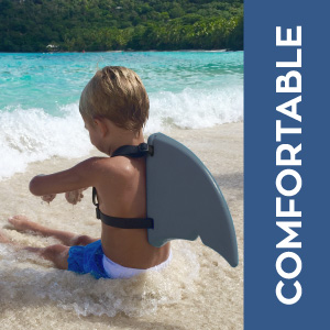 Fin Fun Shark Fin For Swimming And Costume Gray Toys Games