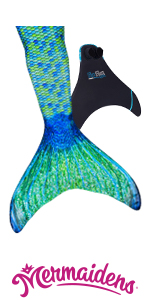 Amazon.com  Fin Fun Mermaid Tails for Swimming with Monofin – Girls ... b3b7f13cb