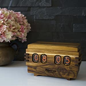 Home & Garden Nixie Tube Clock Le T Manufacture Old Fashioned Decor Clock Handmade White Gold With A Long Standing Reputation Home Décor