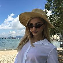 Amazon.com: Gafas de sol vintage retro para mujer, delgadas ...