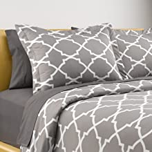 queen comforter cover printed pattern geometric grey and white duvet cover queen size