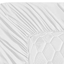 white fitted sheet deep pocket
