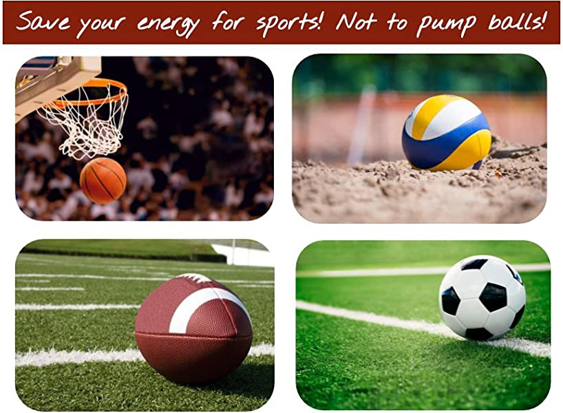 Dual Action Air Pump for Soccer Ball Football /& Basketball Pifito Ball Pump