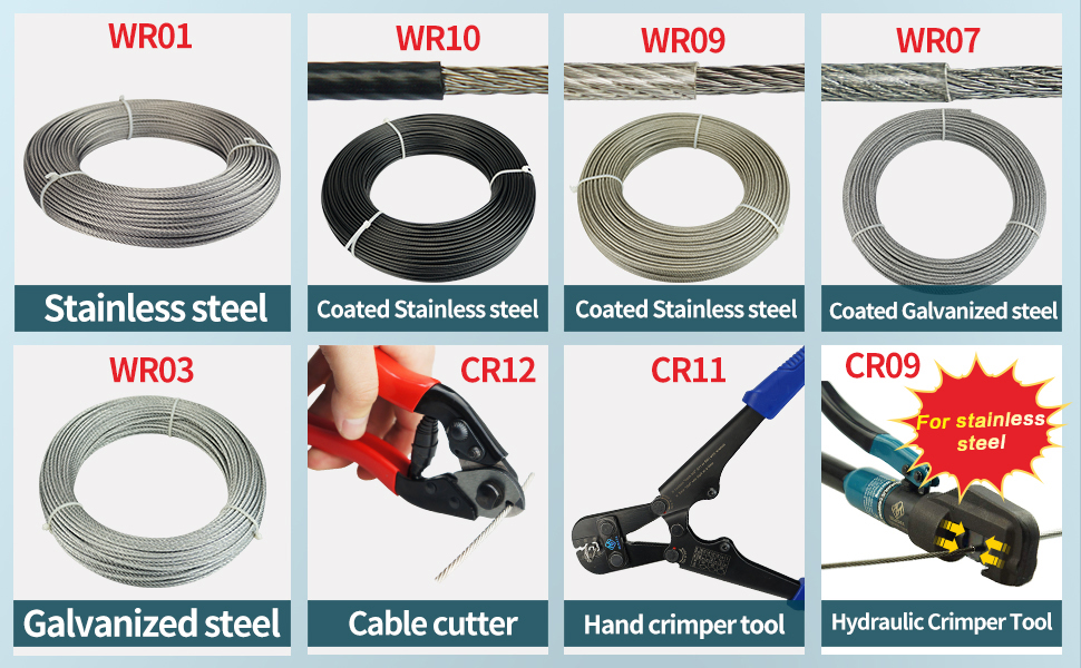 3693e7ec0b76 Muzata cable crimper hydraulic railing wire rope tool stainless 1/8 post  deck stair turnbuckle