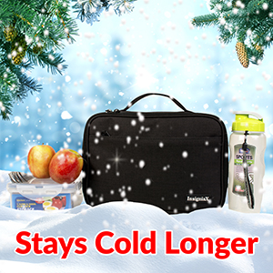 Contents of the lunch bag can stay cold for up to 5 hours with an ice pack (not included).  sc 1 st  Amazon.com & Amazon.com: Kids Lunch Bag S1: InsigniaX Stylish Insulated Lunch ... Aboutintivar.Com