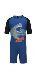 Short Sleeve Rash Guard Swimsuit